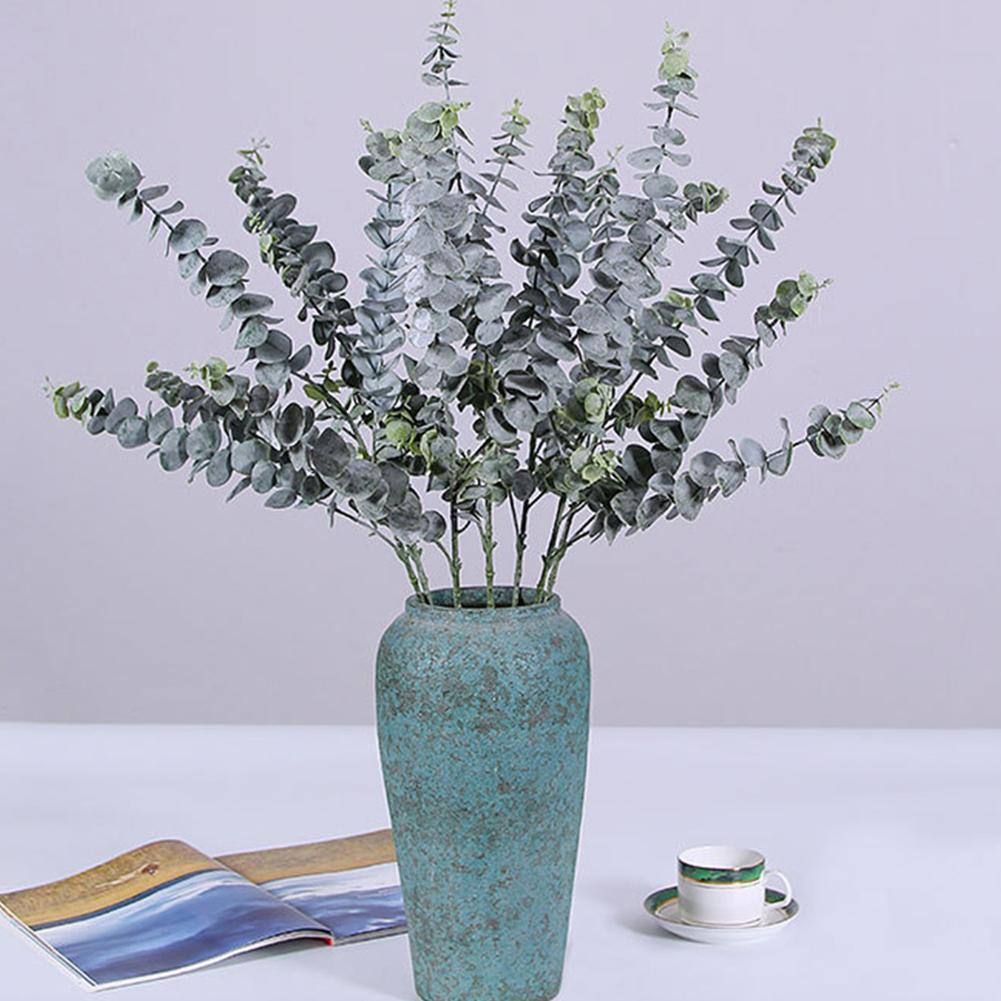 Hot 1Pc Artificial Leaves Eucalyptus Leaf Artificial Plant Wedding Party Flower Arrangement DIY Decor