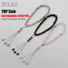 11 colors Top sale 33beads crystal rope chain charm muslim religious tasbih prayer glass beads bracelet man & men muslim jewelry