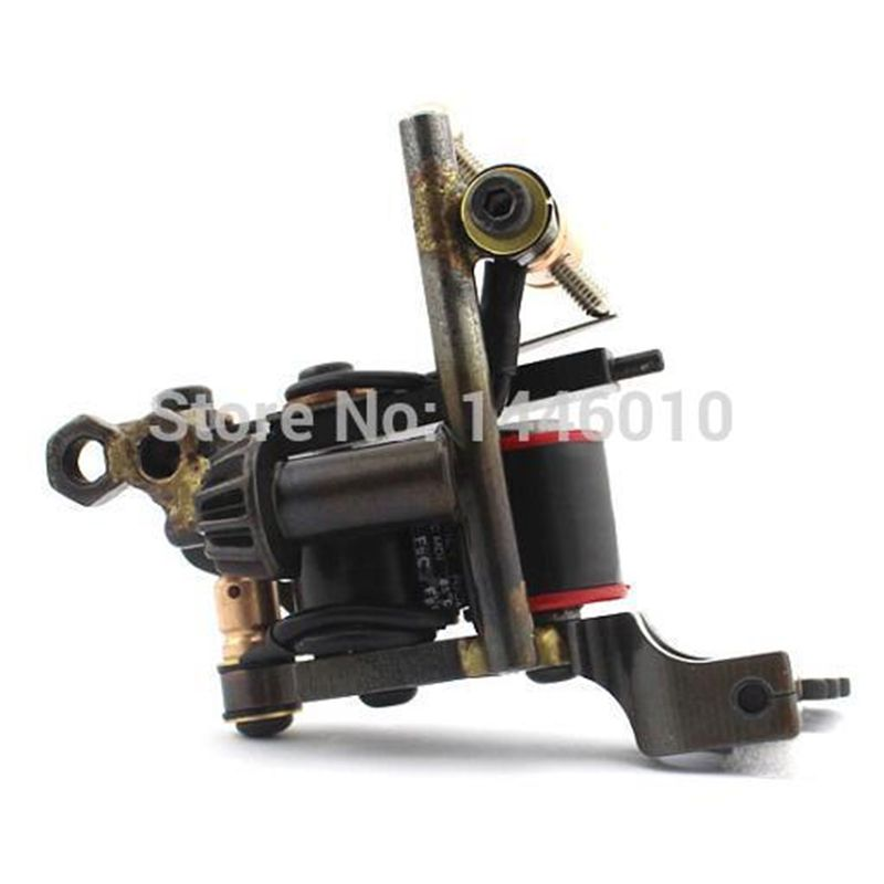 2016 Hot Sale Handmade Tattoo Machine 10 Warps Coils Steel Frame Coil Tattoo Machine Gun For Shader & Liner TM-826 Free Shipping 2016 hot sale aliexpress handmade