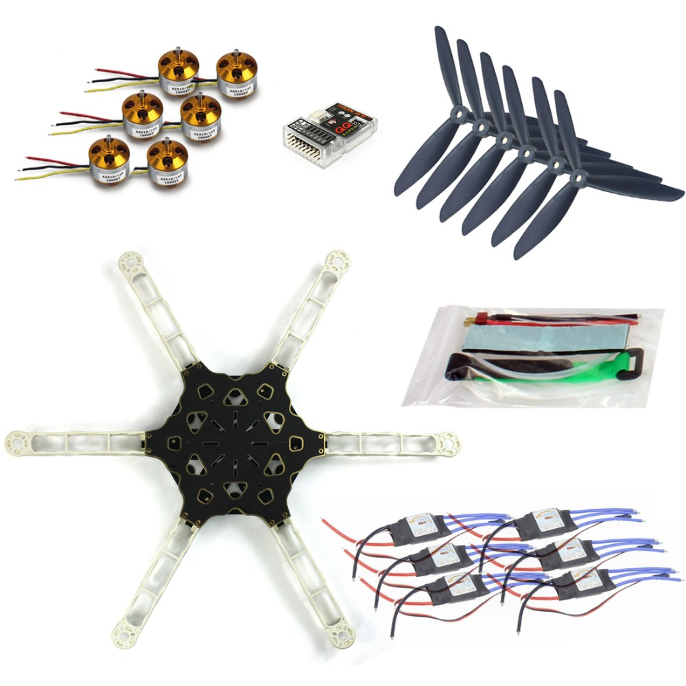DIY FPV Multi-copter Drone QQ SUPER Multi-rotor Flight Control Alien Across Carbon Fiber RC Hexcopter Motor ESC F11798-D drone with camera rc plane qav 250 carbon frame f3 flight controller emax rs2205 2300kv motor fiber mini quadcopter