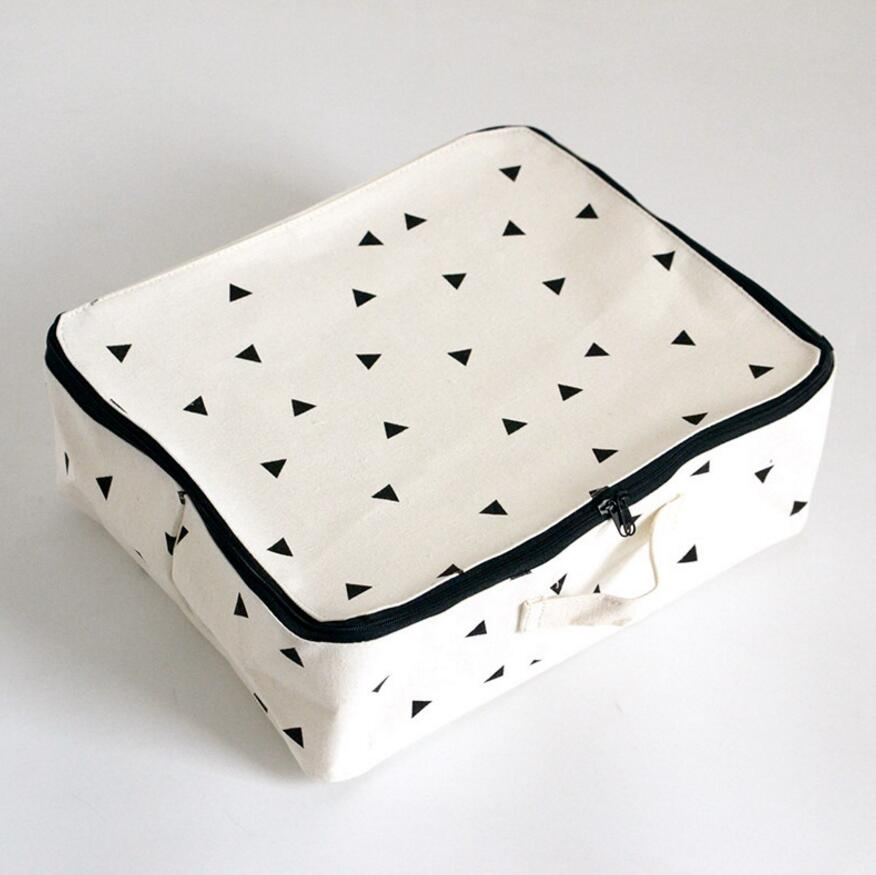 The New Brief Linen Cotton Waterproof Storage Box with Zipper Cosmetic Bag Home Decor Housekeeping Orgnization Travelling Bag