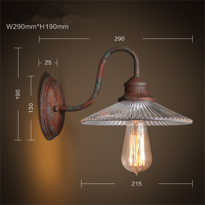 IWHD Loft Vintage LED Wall Lamp Glass Lampshade Retro Industrial Wall Lights Bedside Light Fixtures For Home Lighting Luminaire vintage wall lamp indoor lighting bedside lamps wall lights for home