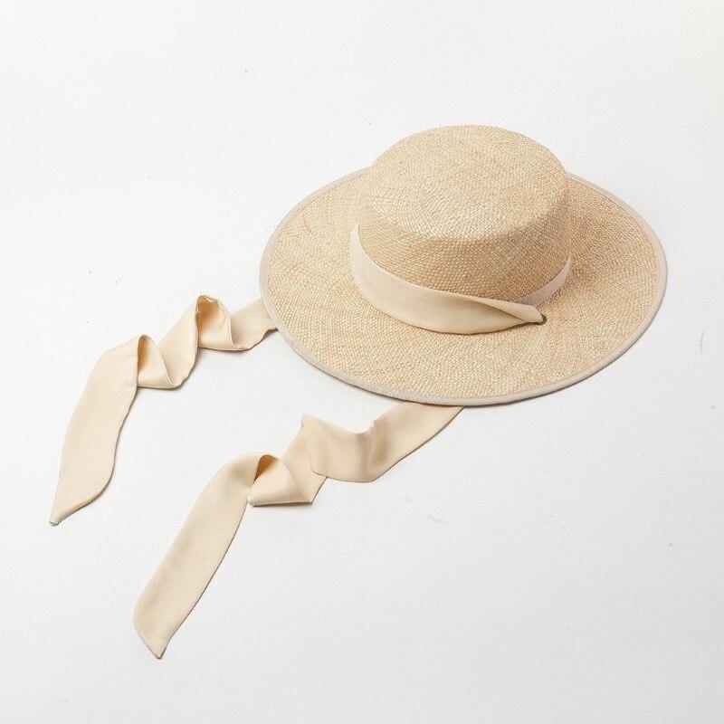 01901-HH7321 2019 nuevo diseño verano tesoro hierba tejido a mano Cinta Larga vacaciones Fedora gorra mujer ocio playa sombrero