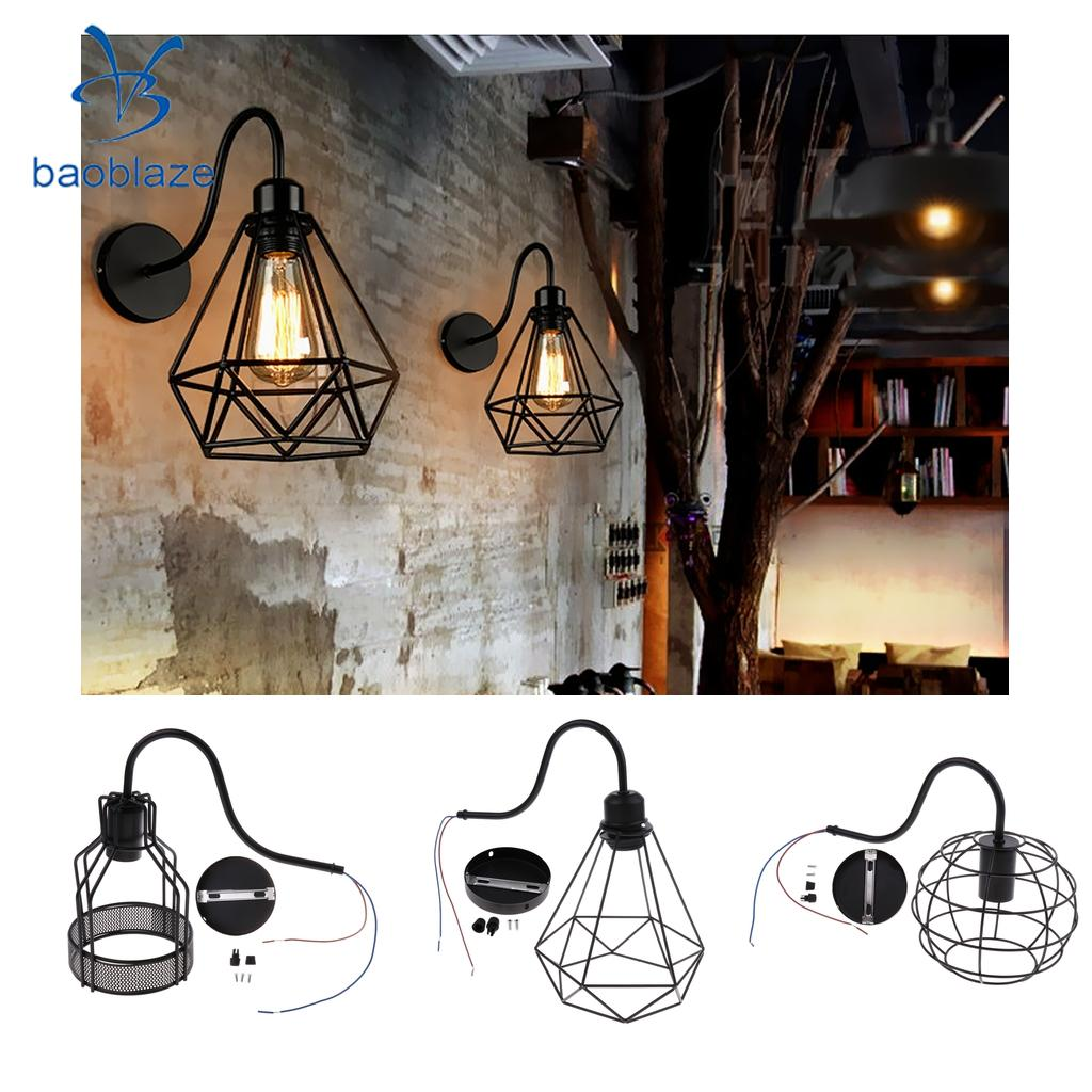 Baoblaze Vintage Birdcage Lampshade Iron Cage Wall Light Cover Wall Fitting Shade Fixture