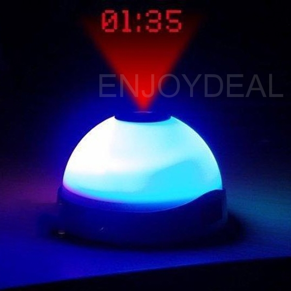 Hot Sale Color Change Projection Clock Time Projector Digital LED Clock Night Light Free Shipping
