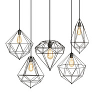 Vintage Light Fixtures Hanging Lights Iron Hanging Lamp Loft Industrial LED Hanglamp Bedroom Dining Nordic Suspension Luminaire
