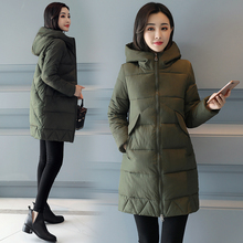 Brieuces Winter Coat Women 2018 New Wadded Jacket Solid Color Hooded Thick Warm Parkas Cotton Padded Outwear