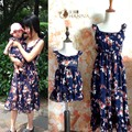 Matching Mother Daughter Dresses Family Look Girl & Mother Mommy and Me clothes summer mom and daughter flower beach long dress