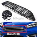 Черный И Хром передний бампер решетка сетки соты Тип для Ford Focus 2015 2016