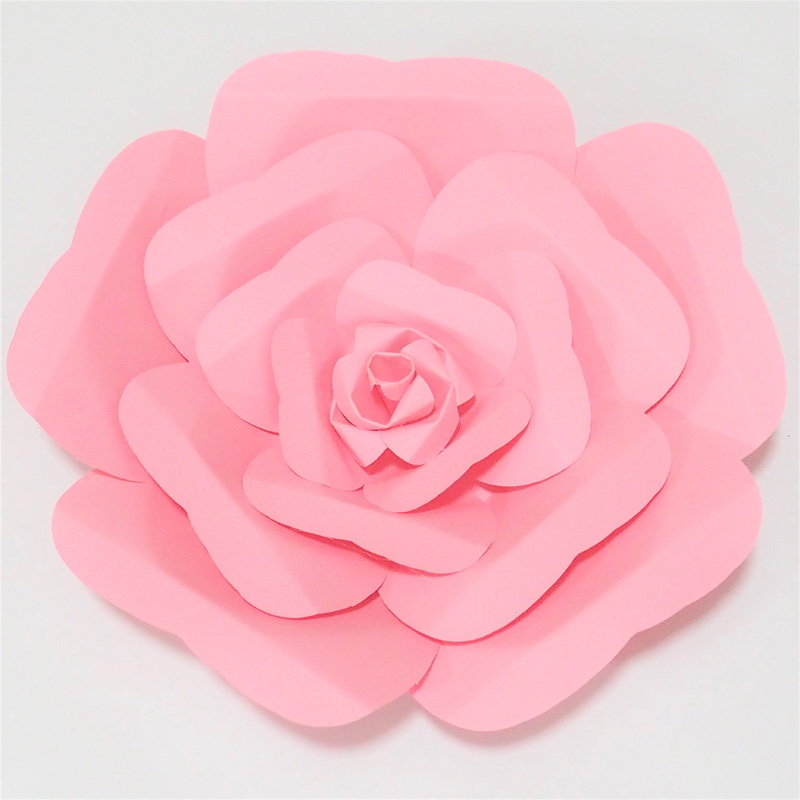 DIY Half Made Giant Paper Flowers For Wedding & Event Decorations Backdrops Deco, 6 Different Sizes Option