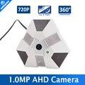 HD 720 P 1.0MP Fisheye Câmera AHD 1080 P Com IR-CUT, Visão Noturna 10 m IR, 360 Graus Ângulo de visão De Segurança CCTV AHD Câmera Panorâmica