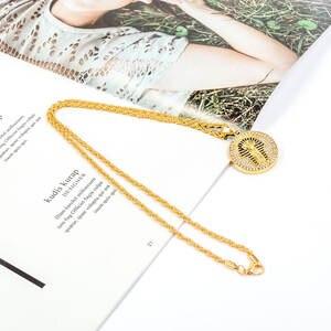aa044c7a74 genenic Hip Hop Crystal Pendant Necklace Long Chain Men's