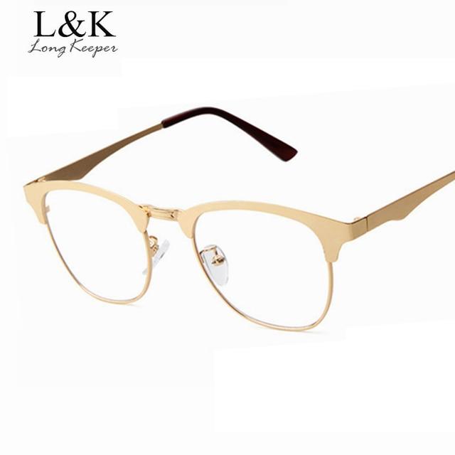 Aliexpress.com : Buy Long Keeper New Gold Metal Frame Eyeglasses ...