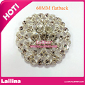 DIY Metal Clear Decorative Rhinestone Buttons Alloy Crystal Flatback buttons / For Wedding Decoration / bouquet