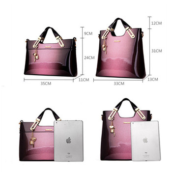 Organizer Women Leather Handbags Luxury Handbags Women Bags Designer Handbags High Quality Patent Leather Fashion Ladies Totes
