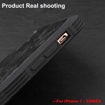 half off 6b6e3 9b0c5 For iPhone X XS XR XS MAX Case Cover 100% Business Real Forged Carbon