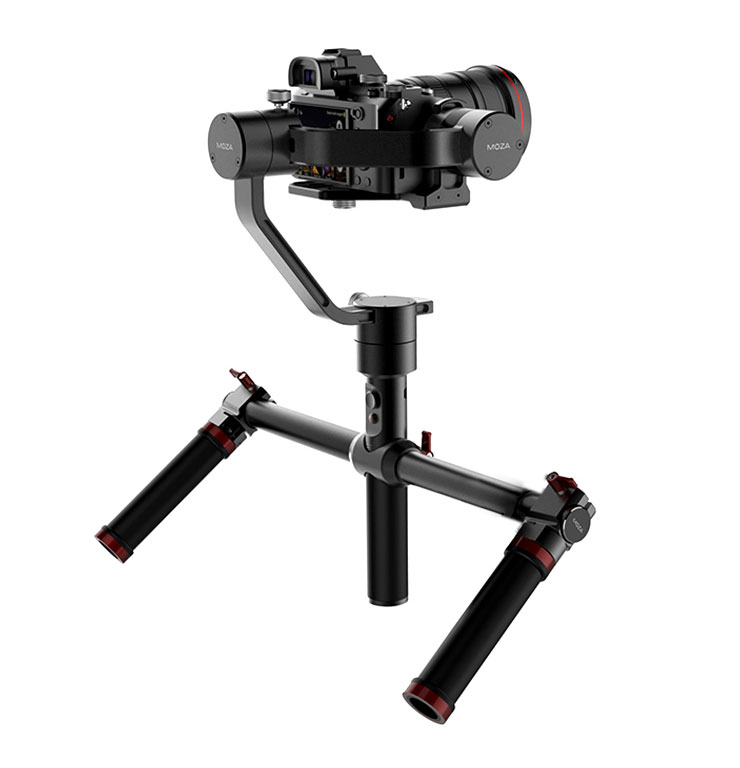 MOZA Air 3 Axis Handheld Gimbal with Dual Hand Holder Tripod for Mirrorless Cameras and DSLRs