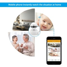 1MP 720P HD IR night vision  pan/tilt  wifi wireless  ip network security P2P plug and play mini camcorder smart robot camera