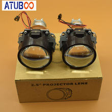 Super Bright Motorcycle Car 2.5 Mini H1 Projector Lens installed in H4 H7 car headlight,Use Hid Xenon bulb