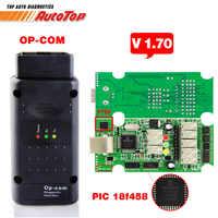 Melhor COM OP ODB 2 V1.70 OP COM OPCOM para OPEL Autoscanner Firmware V 1.70 Com PIC18F458 V5 OP-COM para opel OP com Scanner de OBD2