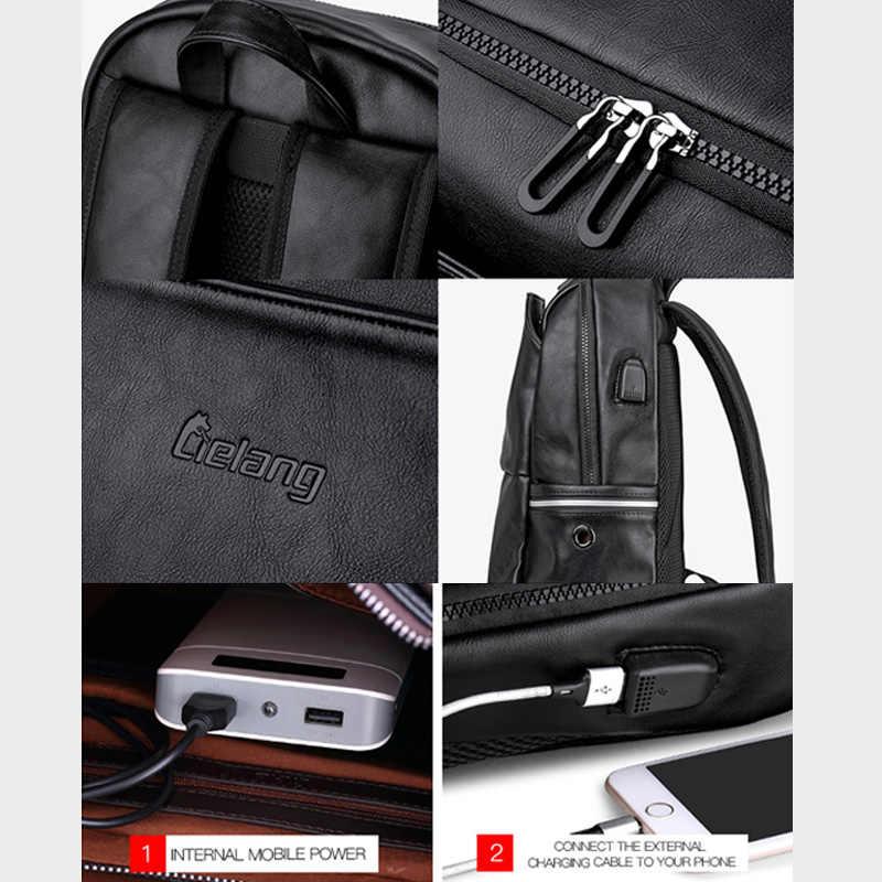 LIELANG школьный рюкзак Водонепроницаемый 15,6 дюймов кожаный рюкзак для ноутбука для мужчин Путешествия подростковый рюкзак сумка мужской рюкзак Mochila