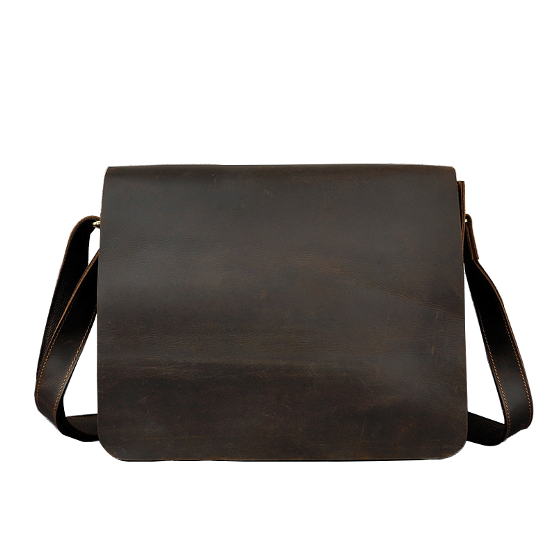 Mens Shoulder Bags High Grade Europe Imported Genuine Cow Leather Satchels vintage 14 Inches PC Crossbody BagsMens Shoulder Bags High Grade Europe Imported Genuine Cow Leather Satchels vintage 14 Inches PC Crossbody Bags