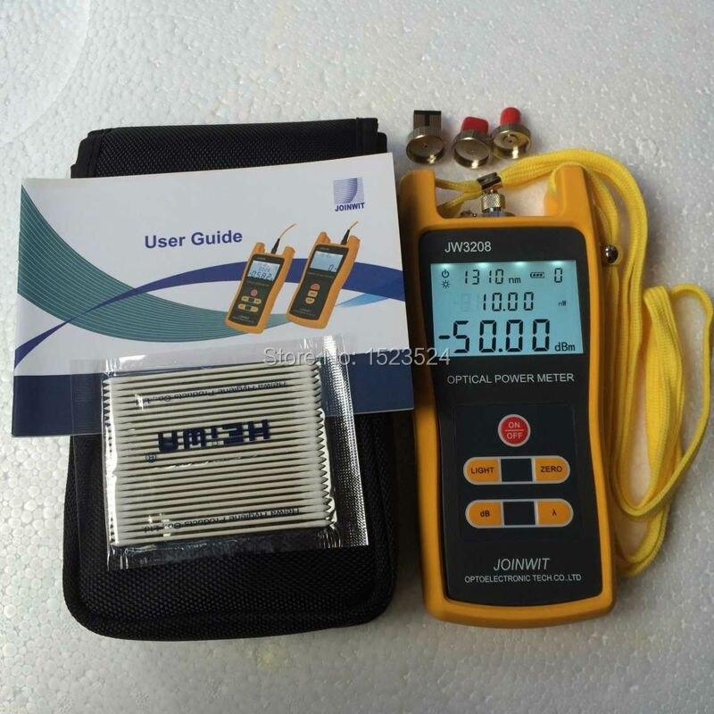 Broadcasting Television -50~+26dBm JW3208C Handheld Optical Power Meter Fiber Optic Tester SC FC ST LC Connector