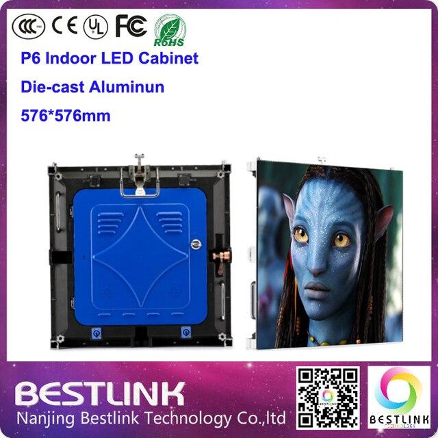 Крытый полноцветный светодиодный литой алюминиевый корпус с p6 светодиодный модуль 1/16 s для rgb led видео стены светодиодный экран рекламы