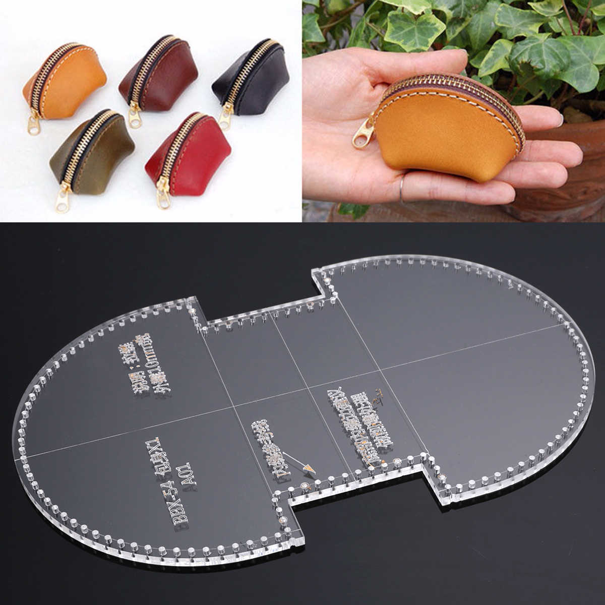 Acryl Schneiden Schablonen Stempel Vorlage für DIY Mini Geldbörse