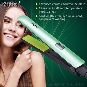 Image 1 - מקצועי LCD תצוגת שיער מחליק קרמי שטוח ברזל ברק טיפול שיער Curler קרלינג ברזל סטיילינג כלי עבור ברזיל