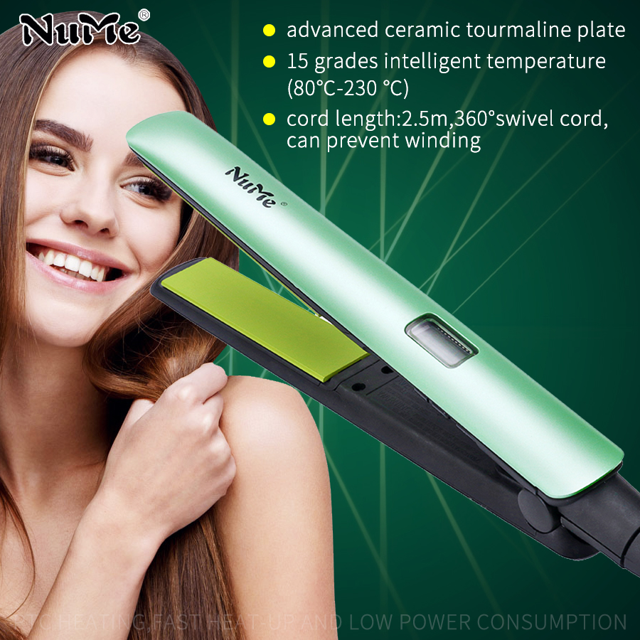 Professional LCD Display Hair Straightener Ceramic Flat Iron Shine Therapy Hair Curler Curling Iron Styling Tool for Brazil|shine therapy|styling tools|ceramic flat iron - title=