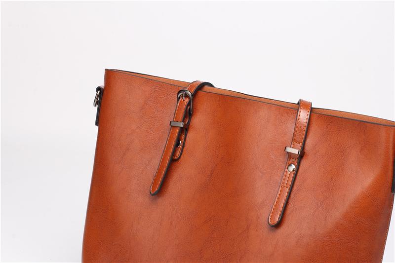 DIDA BEAR Brand Women Leather Handbags Lady Large Tote Bag Female Pu Shoulder Bags Bolsas Femininas Sac A Main Brown Black Red 19
