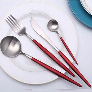 Hoomall Dinnerware Set Cutlery Dinner Set Fork Tableware