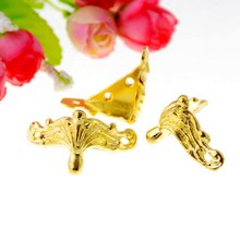 Free shipping 4Pcs Jewelry Gift Box Wood Case Decorative Feet Leg Corner Protector 27x36mm