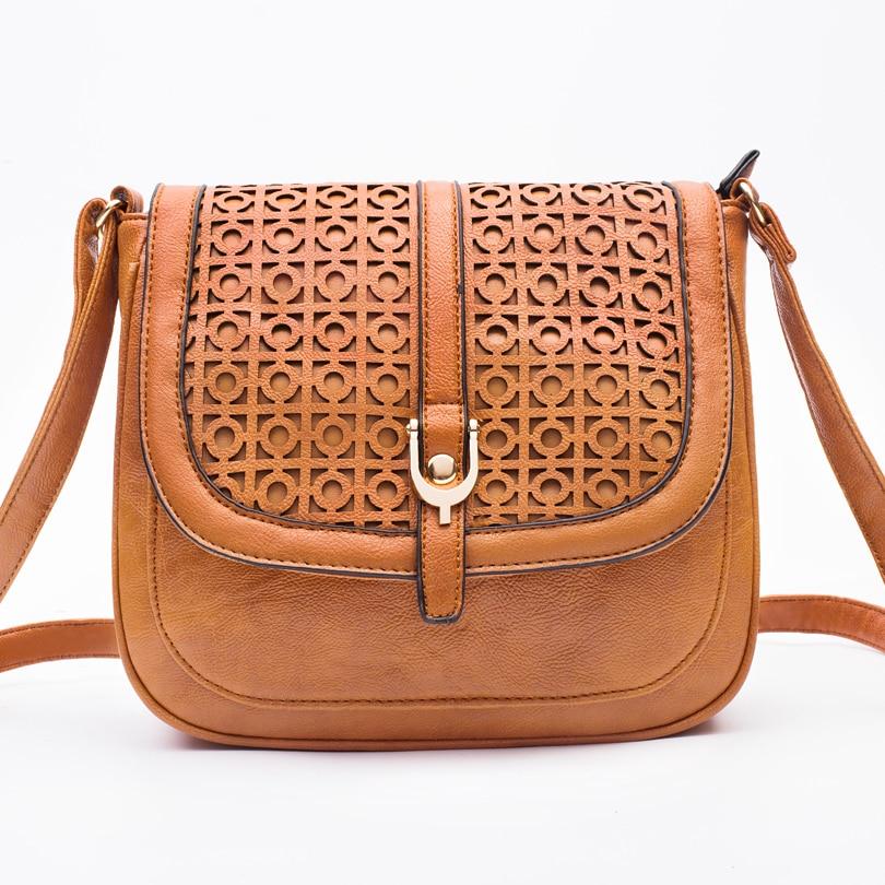casual hallow out women bag PU Leather handbag  bolsa feminina designer women messenger bags female sac main