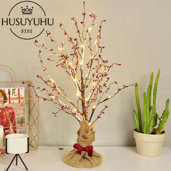 HUSUYUHU SISSI 60 CM LED Snowflake Tree Lights Gift Decoration Light Led Lights Festival Red Light