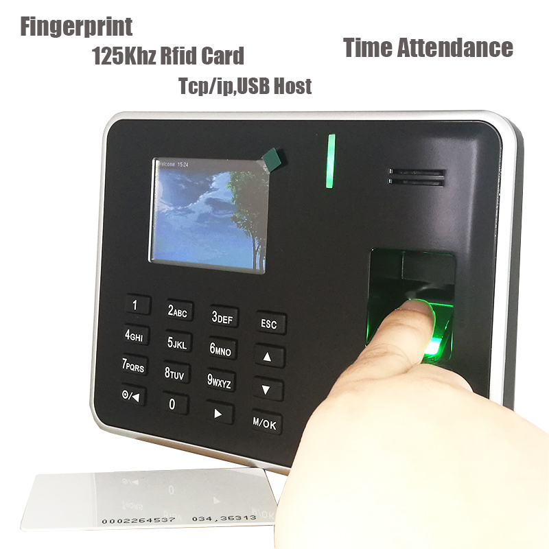 Fingerprint Time Attendance With TCP/IP Fingerprint Time Recoder Rfid Card Time Attendance Machine