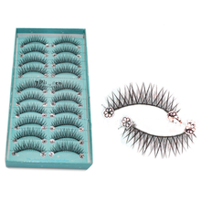 10 Pairs/Set Makeup 3D False Eyelashes Gorgeous Soft Long Cross Eye Lashes