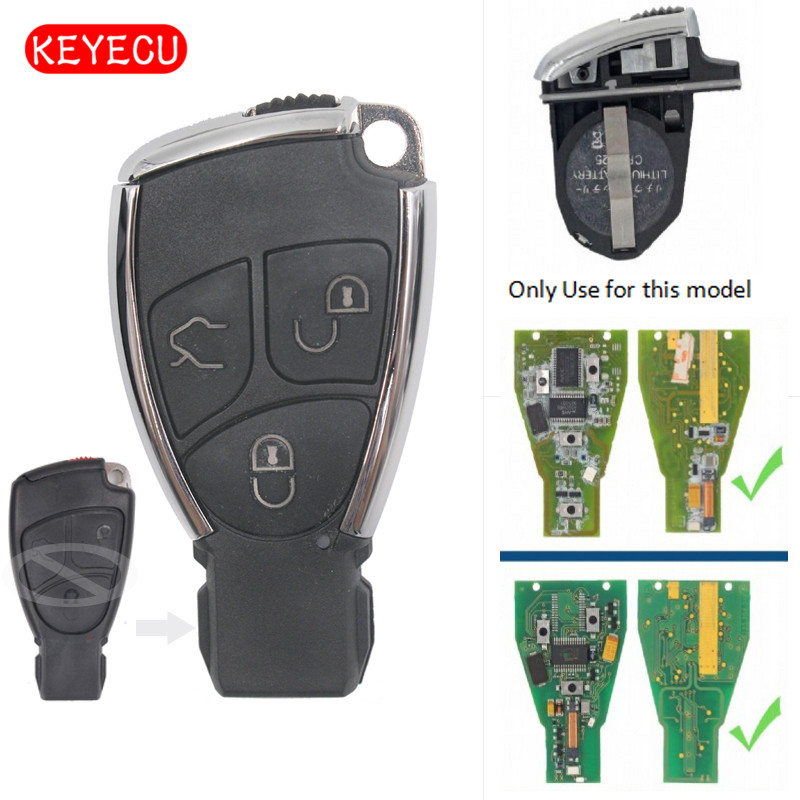 Keyecu Modified Smart Remote Car Key Shell Case Fob for Mercedes-Benz C E S B Class CLK CLS SLK 2001-2010 3 ButtonKeyecu Modified Smart Remote Car Key Shell Case Fob for Mercedes-Benz C E S B Class CLK CLS SLK 2001-2010 3 Button