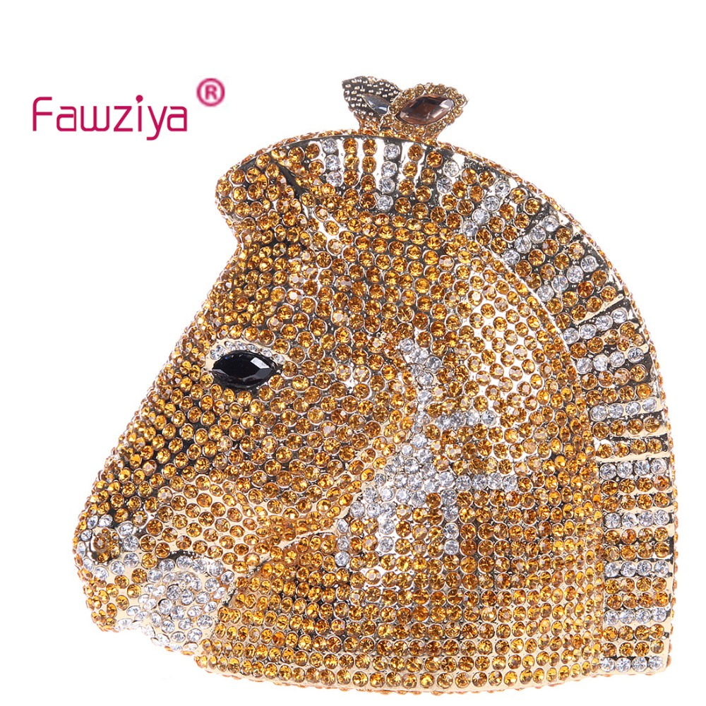 Fawziya Clutch Horse 3D Horse Head Rhinestone Clutch Purses Evening Bags And Clutches fawziya apple clutch purses for women rhinestone clutch evening bag