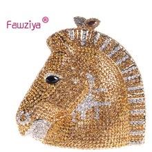 Fawziya Kupplung Pferd 3D Pferdekopf Strass Kupplung Geldbörsen Abendtaschen Und Kupplungen