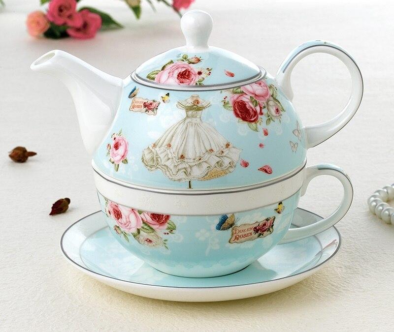 OUSSIRRO Ceramic Tea set Teapot Teacup Set Simple European style Fashion Gift Drinkware W3024