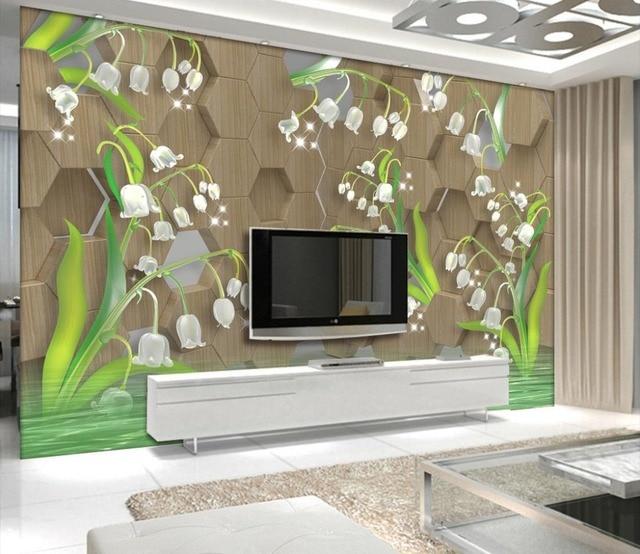 US $13.85 58% di SCONTO Moda moderna Carta Da Parati 3D cristallo tulip  Tappezzerie Per soggiorno Sfondo TV Camera Da Letto Muro ombra acqua Carta  Da ...