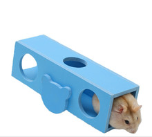 1pcs Hamster Toy Small Pet Rat Hedgehog Wooden Cage Toys Guinea Pig Play