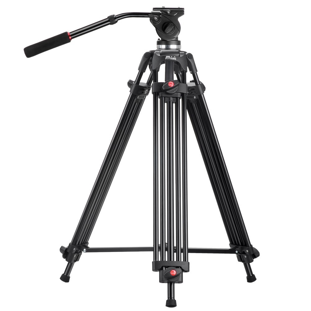 JY0508 JY-0508 JIEYANG Professional Tripod for Camera Aluminum Tripod Stand DSLR Fluid Head Damping Tripods for Video Shooting diat a193l aluminum heavy duty fluid head camera tripod for camcorder dslr stand professional video tripod