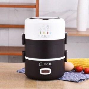 Image 4 - Taşınabilir İşlevli elektrikli yemek kabı yalıtım ısıtma çok katmanlı büyük kapasiteli pişirme sıcak pirinç ofis gıda konteyner