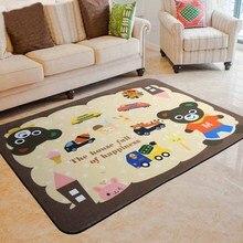 Cartoon Animals Rug Carpet Floor Mat for Children Rectangle Kids Bedroom Living Room Soft Playing
