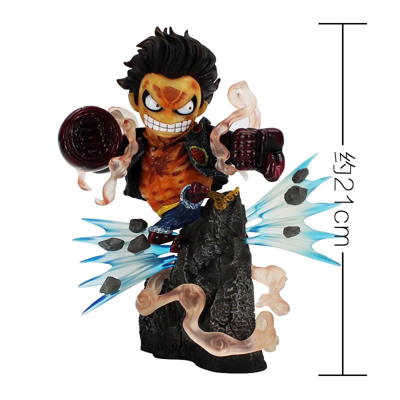 Luffy gear 4, from the hit anime series one piece, in banpresto's one piece king of artist line. 21cm New Hot One Piece Gear Fourth Luffy Action Figure ...