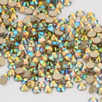 Ghost Light Effects Crystal Gold Back FlatBack Glass Rhinestone Non-HotFix Nail Art Crystal Decorations Flat Back Rhinestones 4