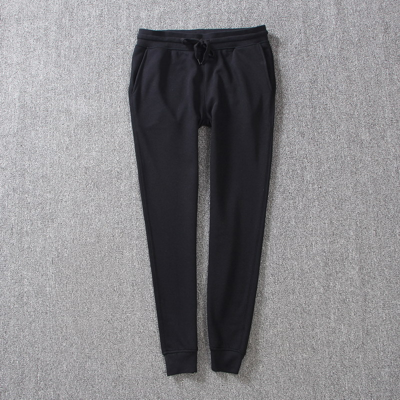 High Quality Spring/Autumn Fashion Womens Cotton Black/Gray Pants Female Soft Sweatpants Women High Waist Casual Trousers XS-L
